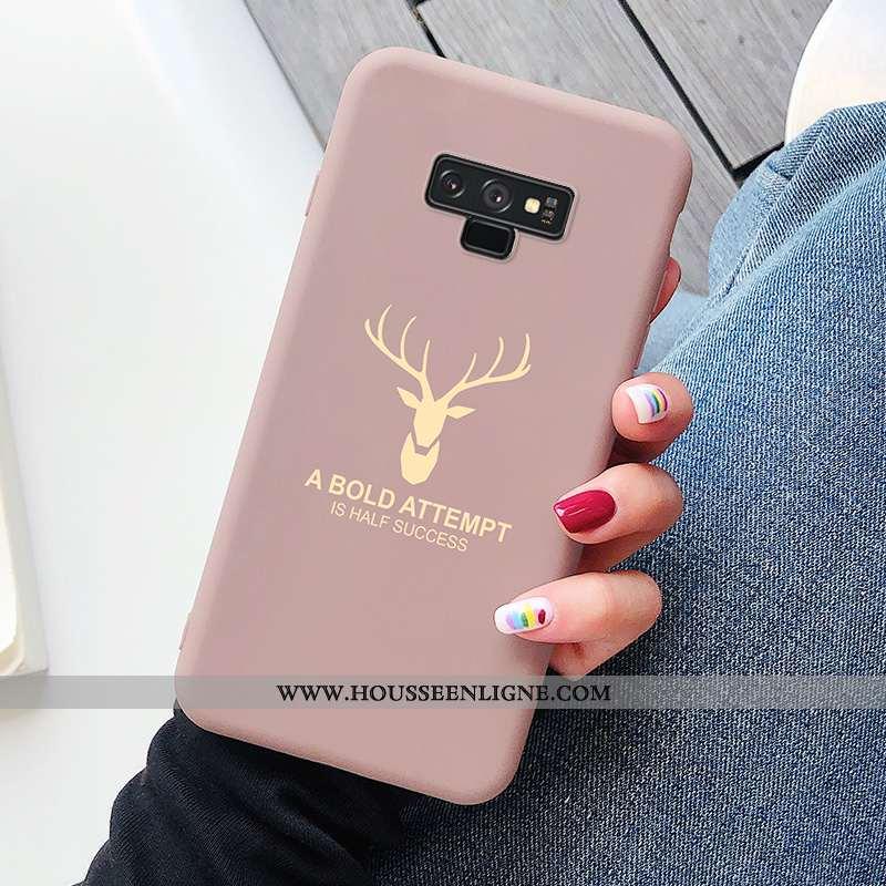 Étui Samsung Galaxy Note 9 Ultra Tendance Étoile Cerf Silicone Net Rouge Rose
