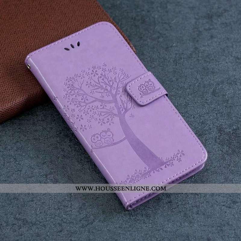 Étui Samsung Galaxy Note20 Cuir Fluide Doux Violet Tout Compris Étoile Housse