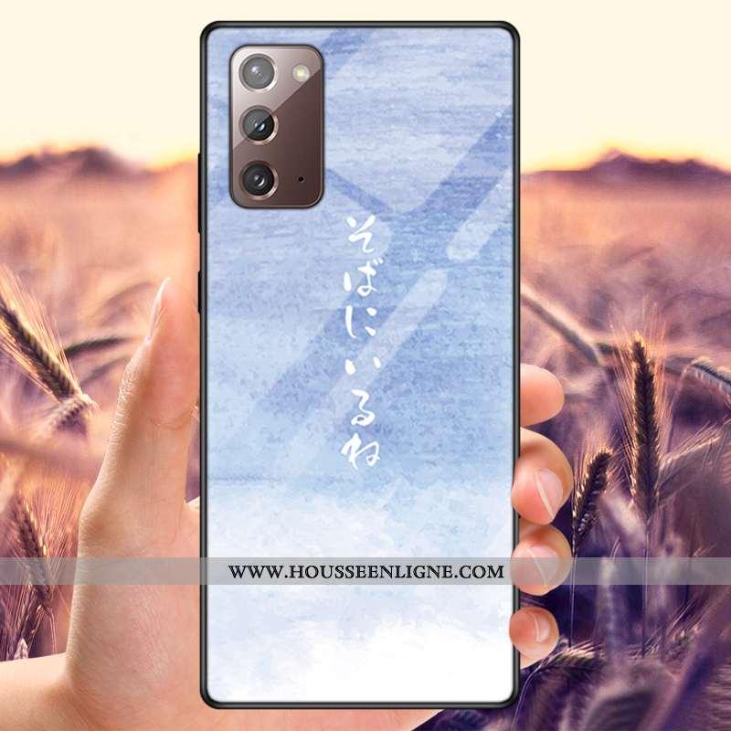 Étui Samsung Galaxy Note20 Protection Verre Net Rouge Amoureux Téléphone Portable Incassable Personn