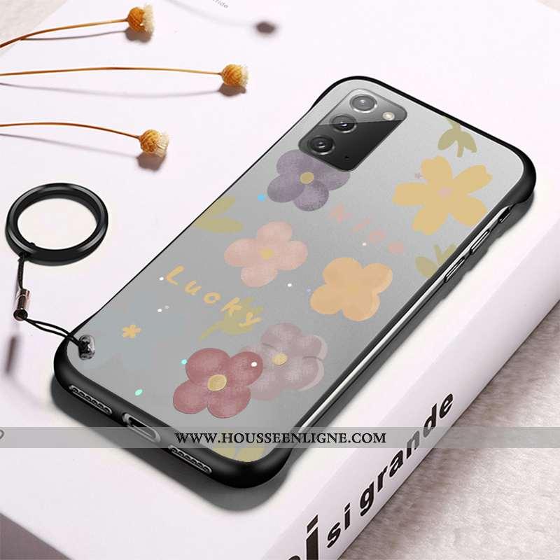 Étui Samsung Galaxy Note20 Transparent Modèle Téléphone Portable Border Coque Difficile Frais Gris