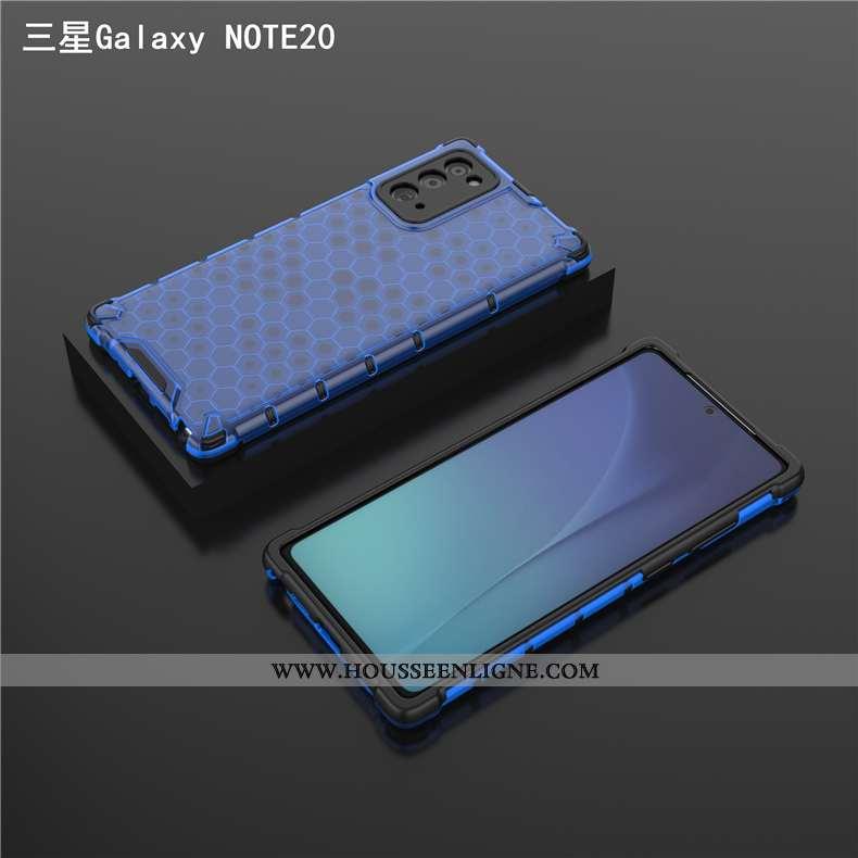 Étui Samsung Galaxy Note20 Transparent Ultra Protection Légère Trois Défenses Ballon Coque Bleu