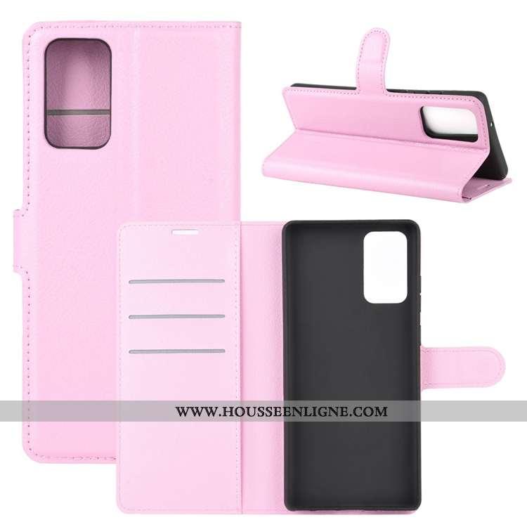 Étui Samsung Galaxy Note20 Ultra Cuir Délavé En Daim Carte Téléphone Portable Antidérapant Étoile Co