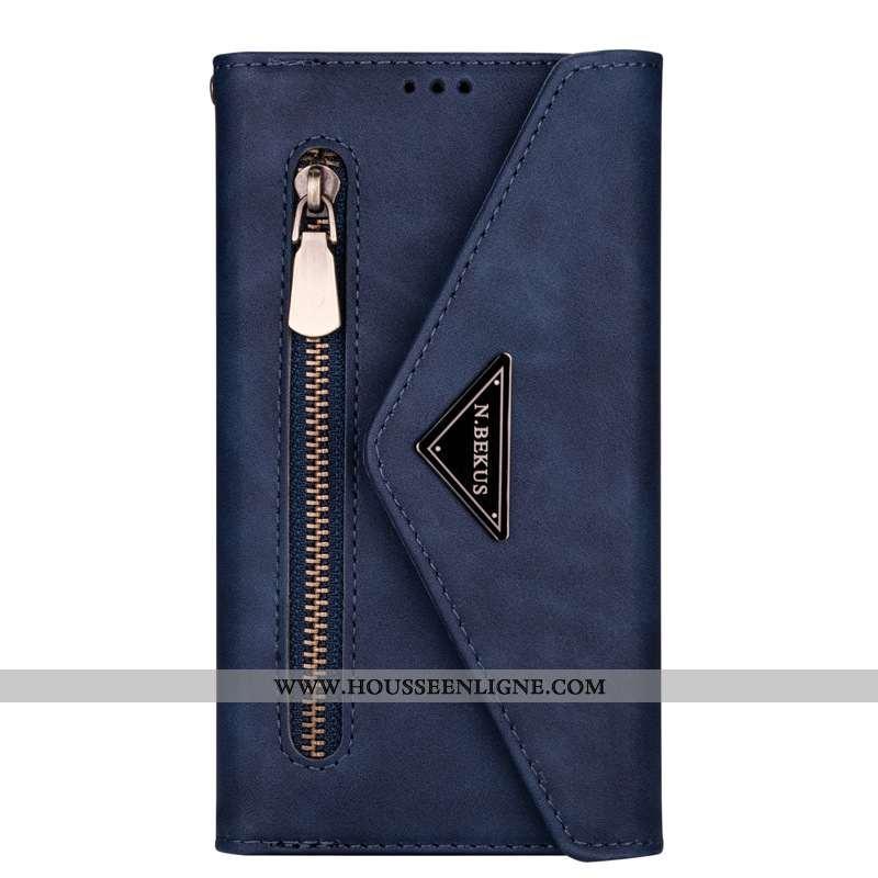 Étui Samsung Galaxy Note20 Ultra Cuir Housse Bleu Marin Téléphone Portable Étoile Coque Bleu Foncé