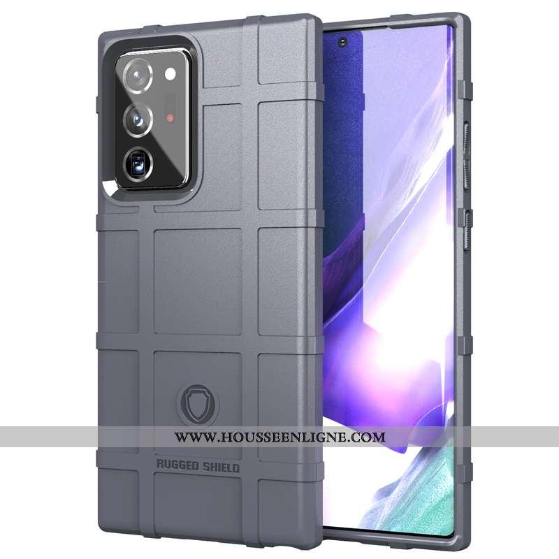 Étui Samsung Galaxy Note20 Ultra Délavé En Daim Personnalité Téléphone Portable Silicone Gris Trois