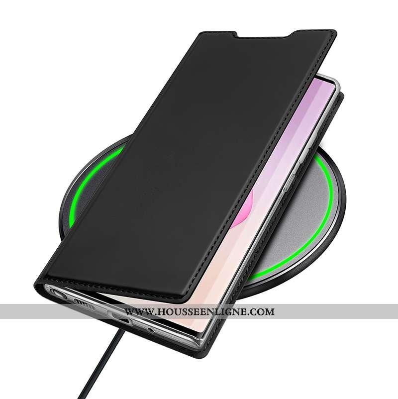 Étui Samsung Galaxy Note20 Ultra Légère Incassable Cuir Téléphone Portable Étoile Coque Noir
