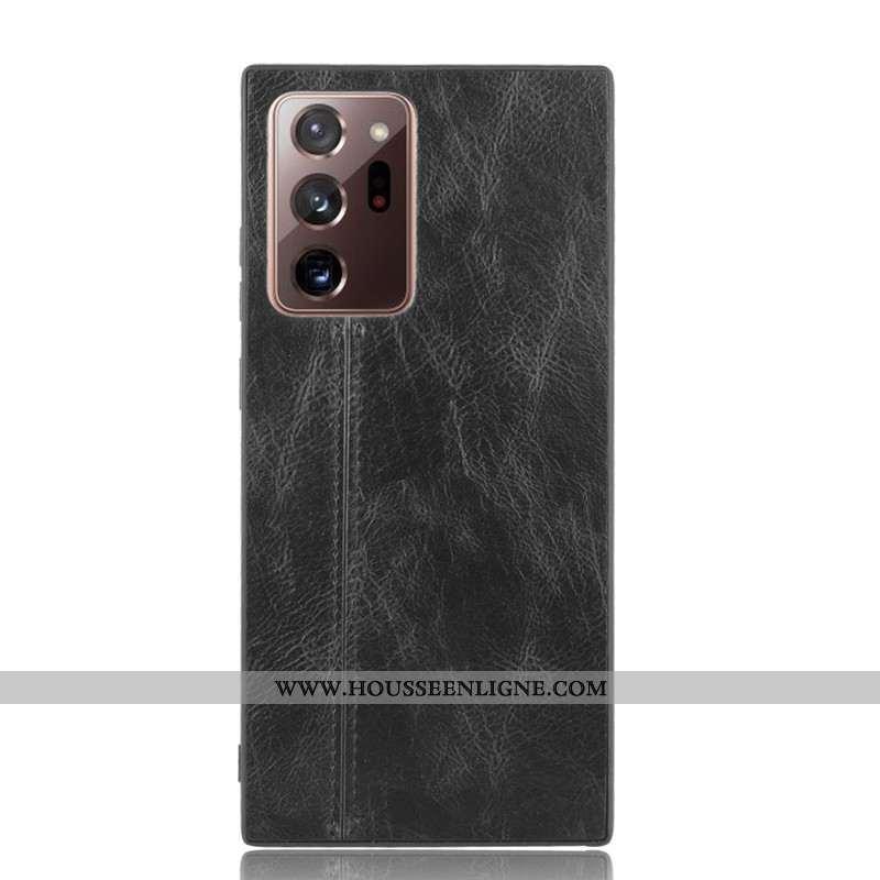 Étui Samsung Galaxy Note20 Ultra Protection Cuir Coque Noir Modèle Fleurie Téléphone Portable