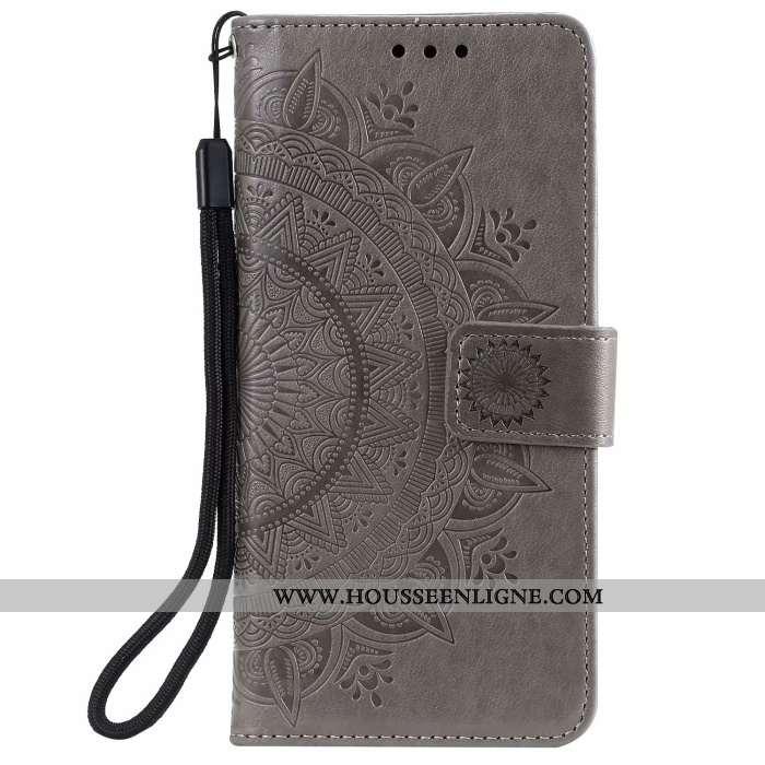 Étui Samsung Galaxy Note20 Ultra Protection Cuir Housse Coque Téléphone Portable Étoile Gris