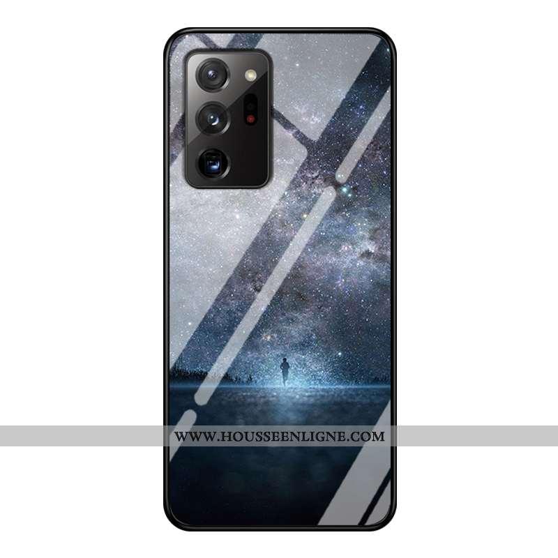 Étui Samsung Galaxy Note20 Ultra Verre Personnalité Téléphone Portable Personnalisé Luxe Étoile Bleu