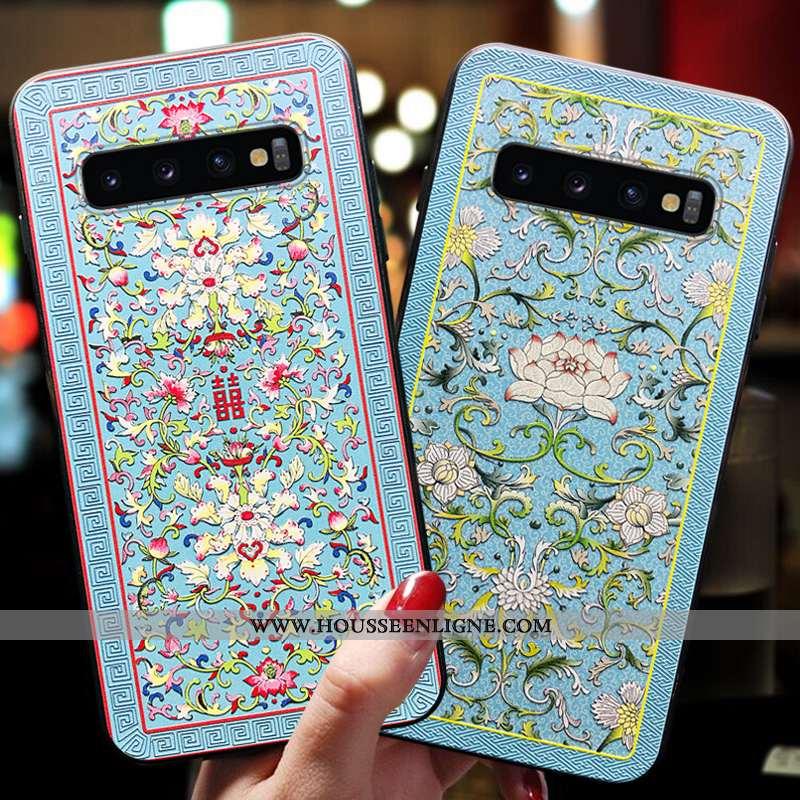 Étui Samsung Galaxy S10 Fluide Doux Silicone Bleu Tendance Téléphone Portable Nouveau Tout Compris