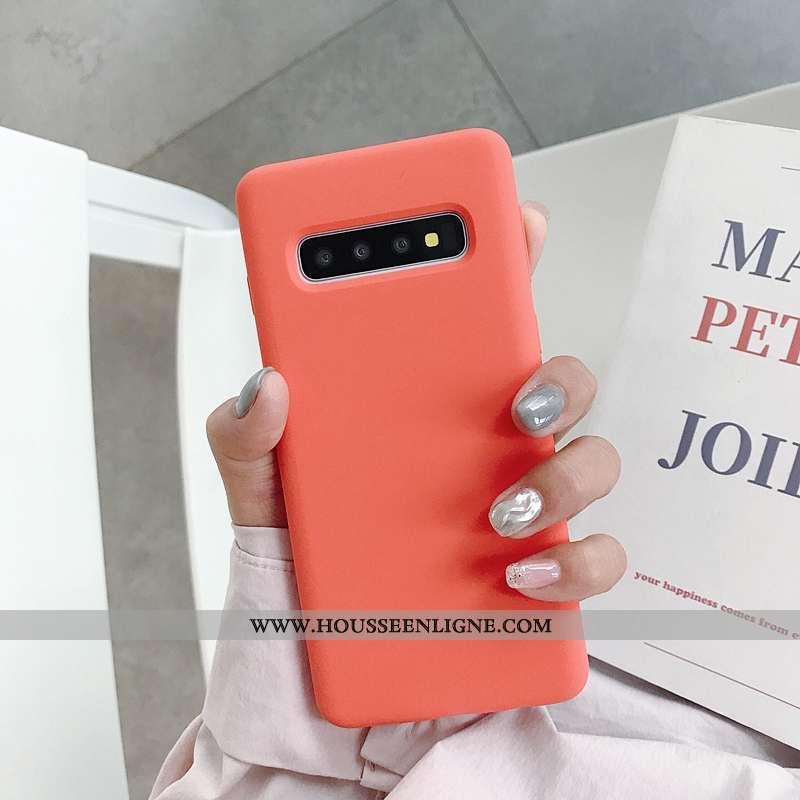 Étui Samsung Galaxy S10+ Fluide Doux Tendance Net Rouge Téléphone Portable Tout Compris Coque Nouvea