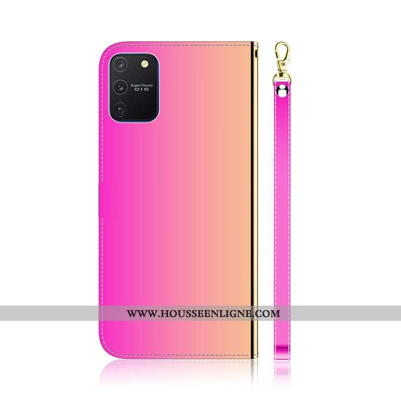 Étui Samsung Galaxy S10 Lite Protection Cuir Tout Compris Téléphone Portable Étoile Rose