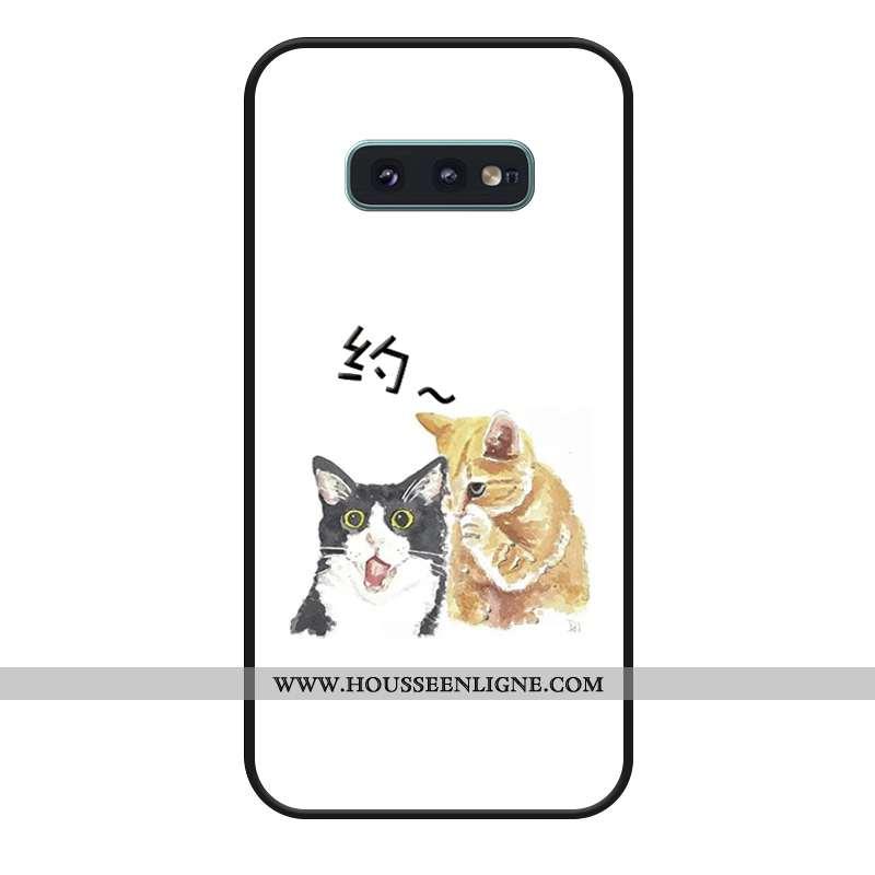 Étui Samsung Galaxy S10e Dessin Animé Silicone Téléphone Portable Amoureux Blanc Étoile Coque Blanch