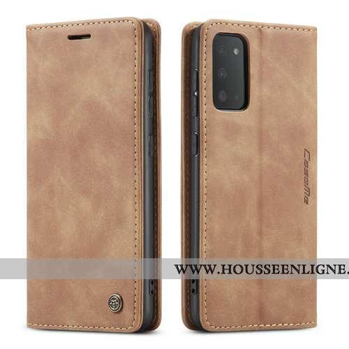 Étui Samsung Galaxy S20+ Créatif Tendance Cuir Incassable Téléphone Portable Coque Khaki