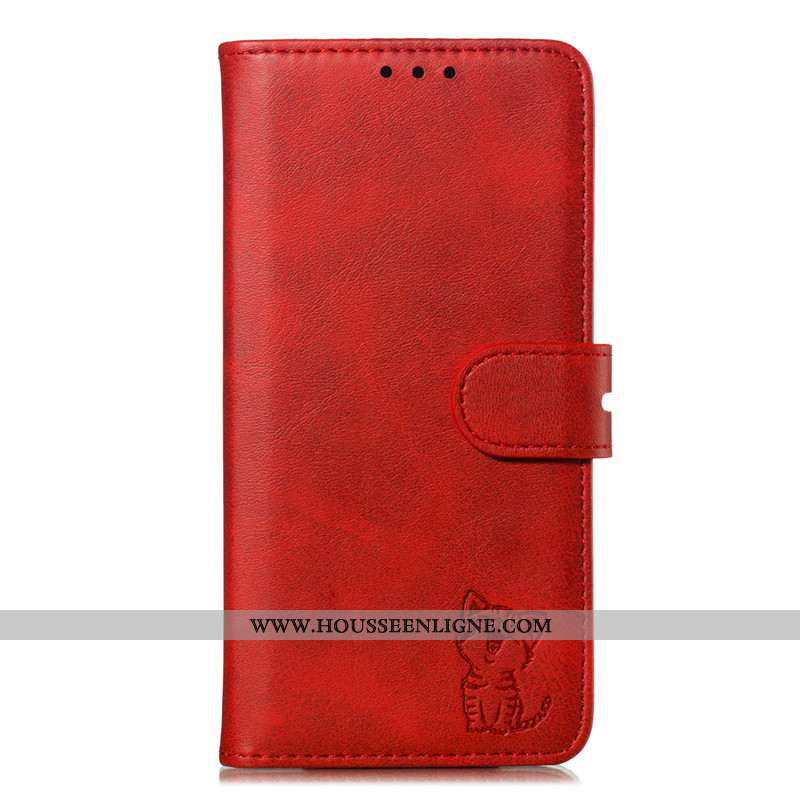 Étui Samsung Galaxy S20 Cuir Protection Rouge Téléphone Portable Housse Étoile