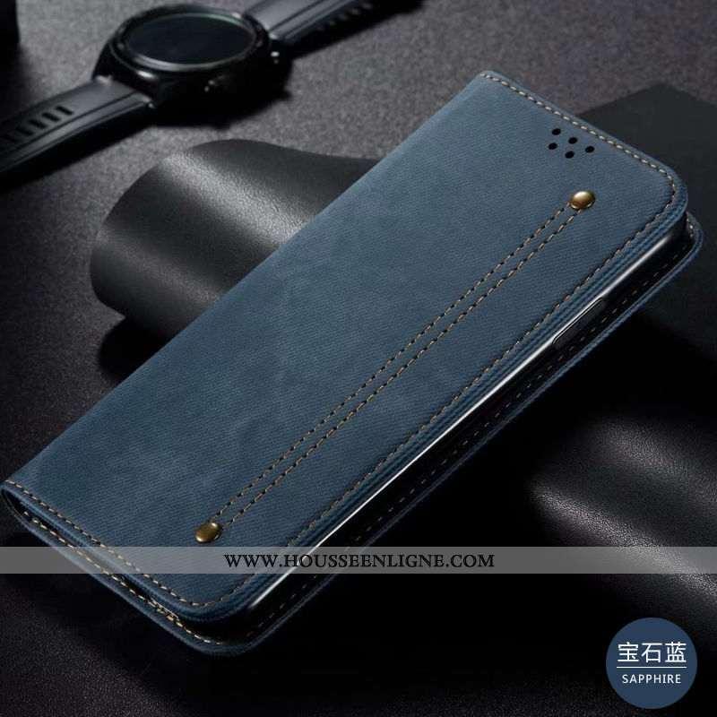 Étui Samsung Galaxy S20 Cuir Véritable Étoile Housse Incassable Coque Téléphone Portable Bleu