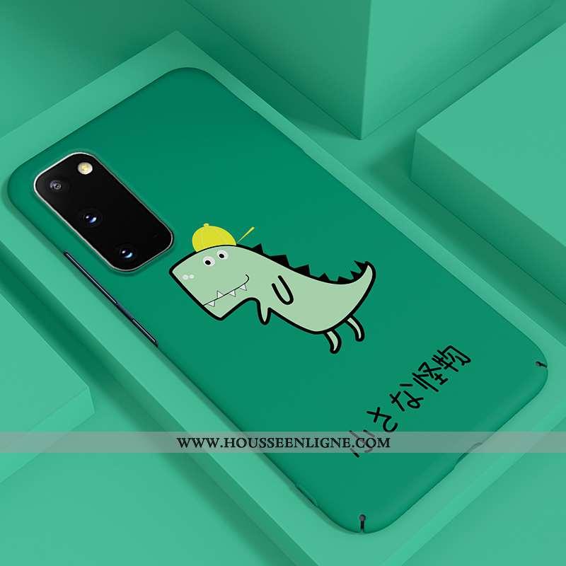 Étui Samsung Galaxy S20 Délavé En Daim Dessin Animé Tendance Luxe Ultra Tout Compris Légère Verte