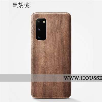 Étui Samsung Galaxy S20 En Bois Modèle Fleurie Téléphone Portable Protection Qualité Kaki Coque Khak