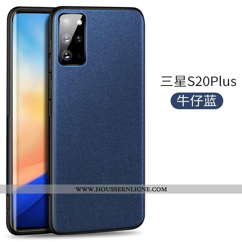 Étui Samsung Galaxy S20+ Protection Ultra Modèle Fleurie Magnétisme Bleu Marin Coque Téléphone Porta