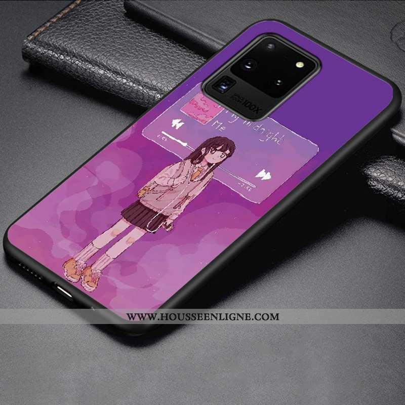 Étui Samsung Galaxy S20 Ultra Fluide Doux Silicone Téléphone Portable Charmant Protection Incassable