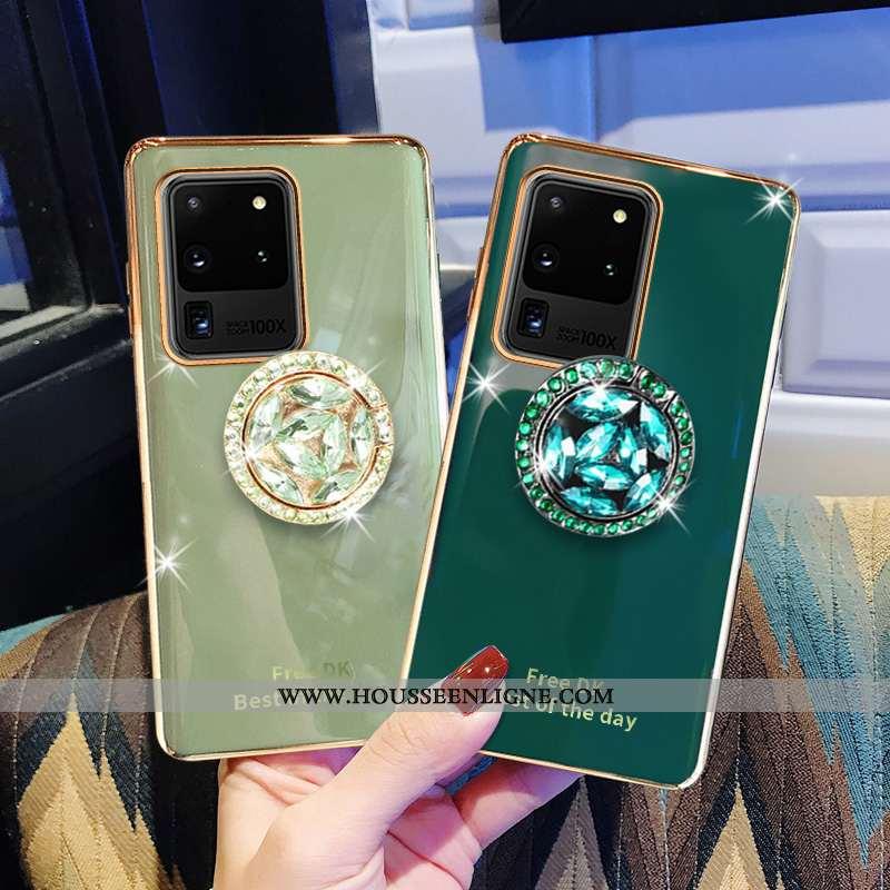 Étui Samsung Galaxy S20 Ultra Luxe Fluide Doux Tout Compris Étoile Téléphone Portable Incassable Bov