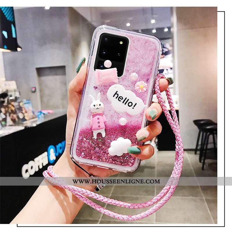 Étui Samsung Galaxy S20 Ultra Mode Protection Téléphone Portable Rose Tendance Fluide Doux