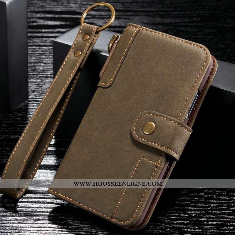 Étui Samsung Galaxy S6 Edge Cuir Véritable Tout Compris Kaki Coque Téléphone Portable Luxe Khaki