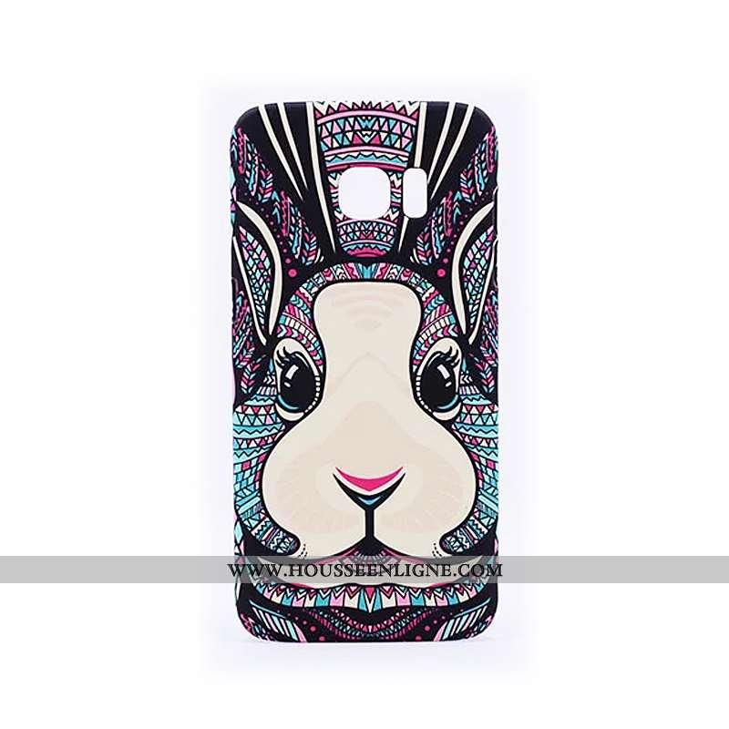 Étui Samsung Galaxy S6 Edge Délavé En Daim Gaufrage Noir Protection Téléphone Portable Tendance Lumi
