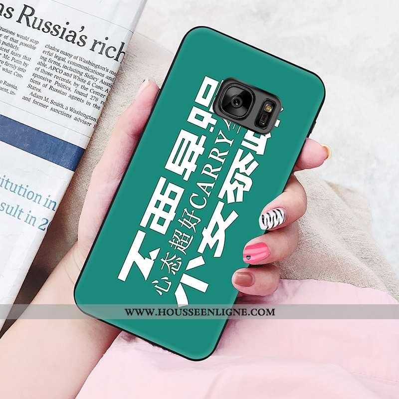 Étui Samsung Galaxy S6 Edge Fluide Doux Silicone Personnalité Vert Nouveau Coque Verte
