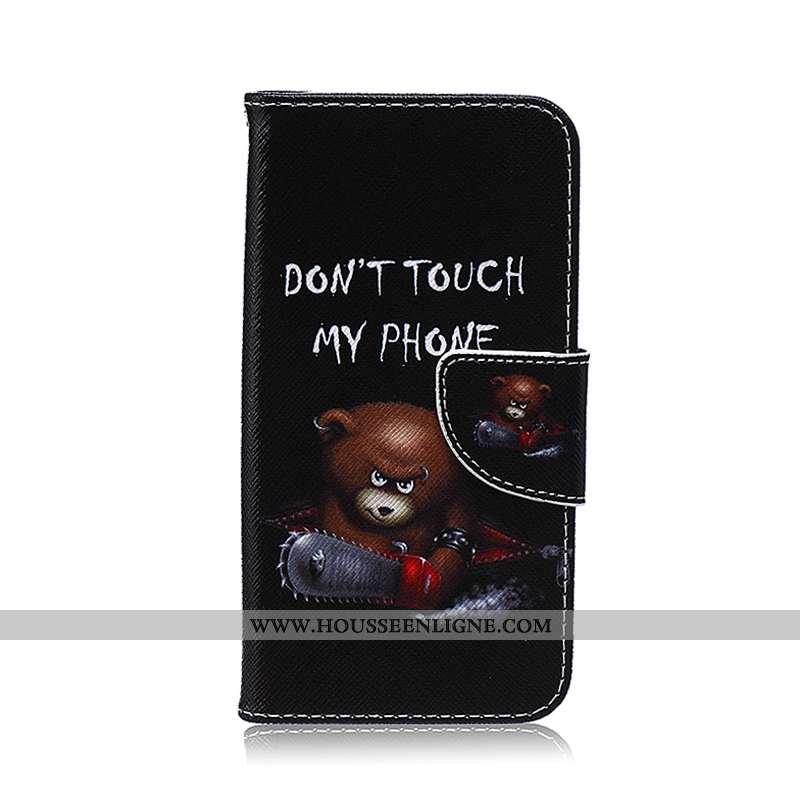 Étui Samsung Galaxy S6 Edge Protection Dessin Animé Coque Étoile Téléphone Portable Cuir Noir