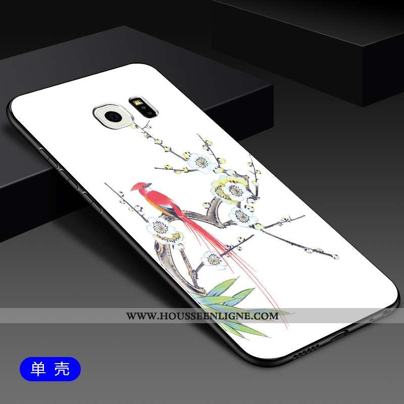 Étui Samsung Galaxy S6 Edge Protection Verre Étoile Coque Téléphone Portable Tout Compris Blanche