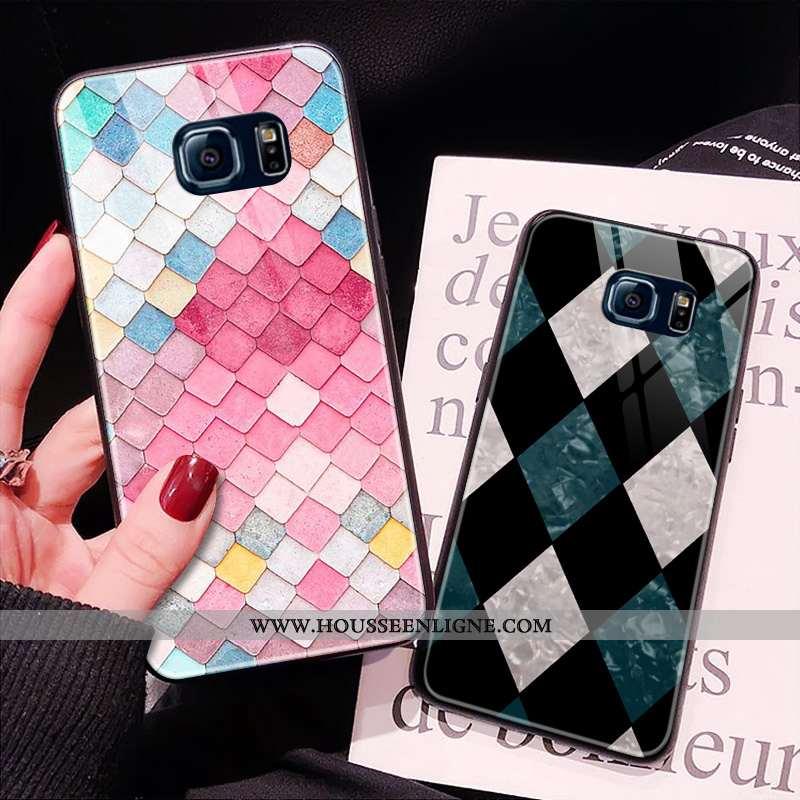 Étui Samsung Galaxy S6 Edge Verre Téléphone Portable Incassable Coque Rose Tout Compris Or
