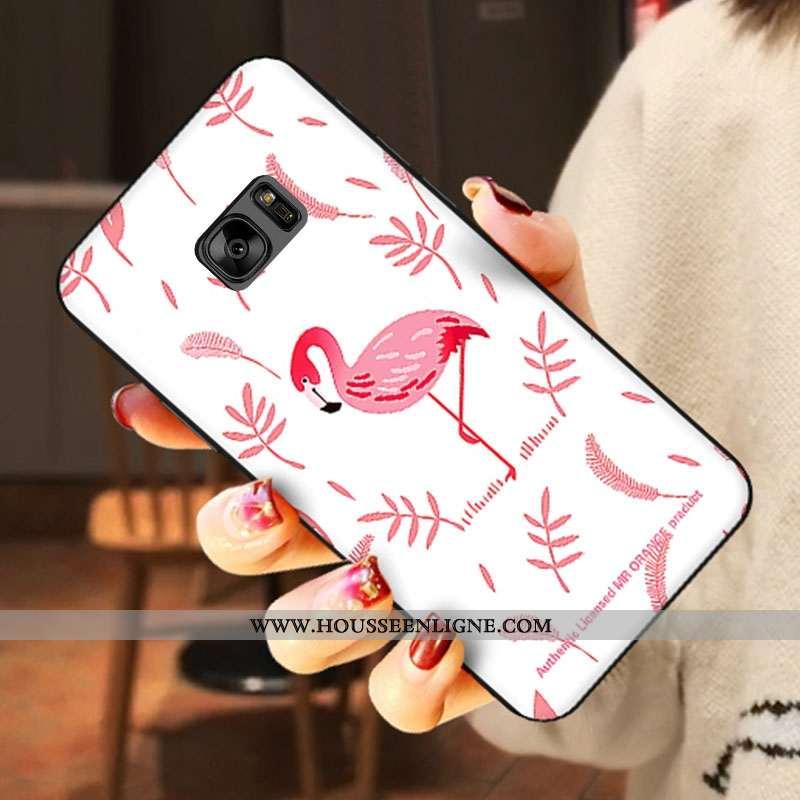 Étui Samsung Galaxy S6 Silicone Dessin Animé Amoureux Téléphone Portable Fluide Doux Étoile Blanche