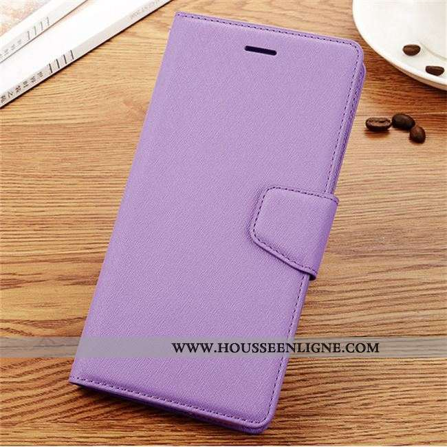 Étui Samsung Galaxy S7 Cuir Clamshell Violet Téléphone Portable Carte Coque