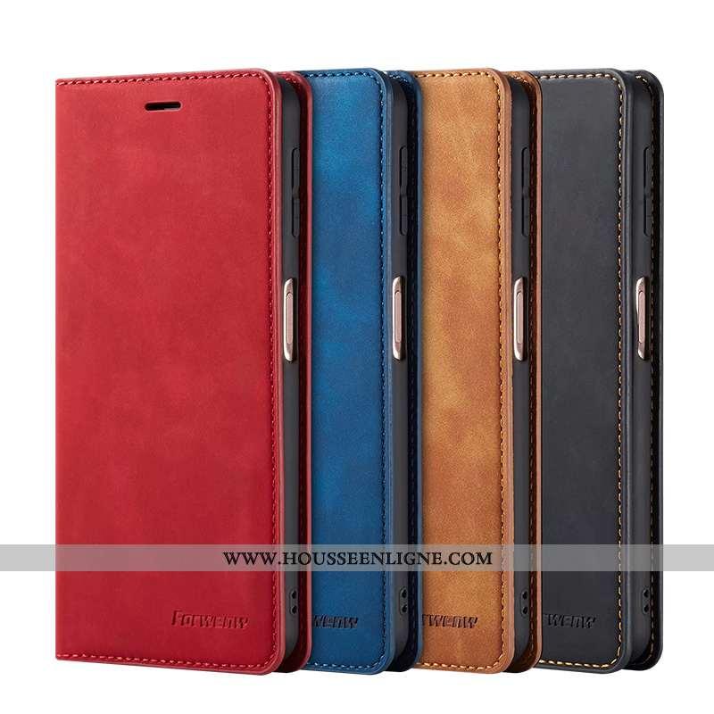 Étui Samsung Galaxy S7 Cuir Véritable Clamshell Téléphone Portable Rouge Étoile Coque