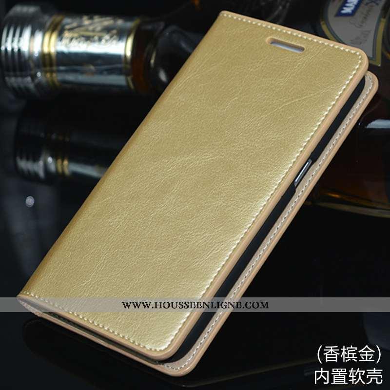 Étui Samsung Galaxy S7 Edge Cuir Protection Coque Or Clamshell Téléphone Portable Doré