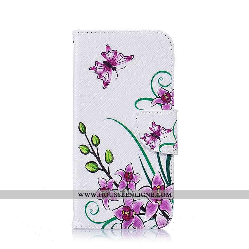 Étui Samsung Galaxy S7 Edge Dessin Animé Cuir Coque Blanc Téléphone Portable Housse Blanche