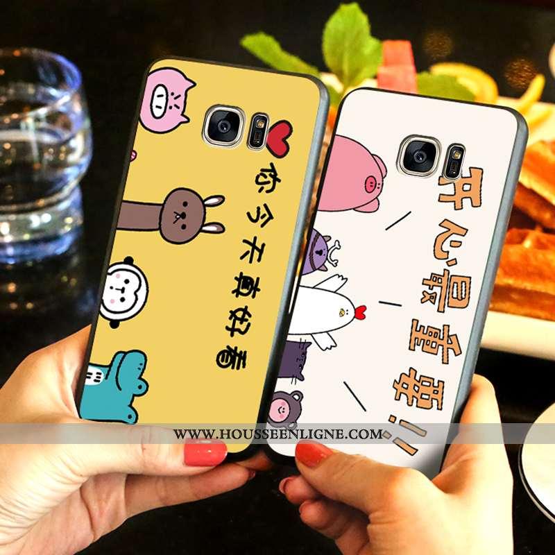 Étui Samsung Galaxy S7 Edge Fluide Doux Protection Téléphone Portable Étoile Jaune Dessin Animé