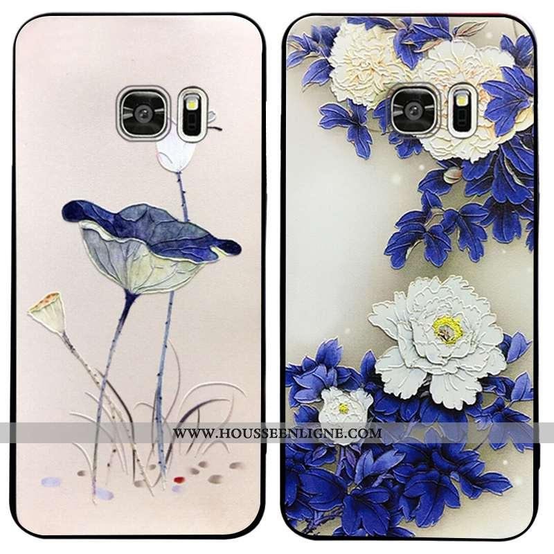 Étui Samsung Galaxy S7 Edge Ornements Suspendus Vintage Coque Téléphone Portable Silicone Fluide Dou