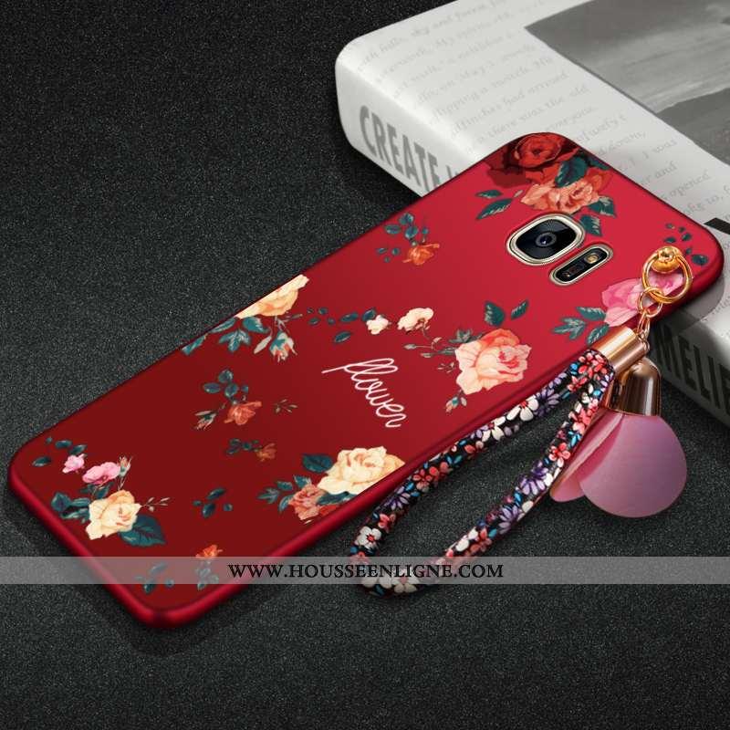 Étui Samsung Galaxy S7 Edge Protection Personnalité Rouge Téléphone Portable Tout Compris Coque
