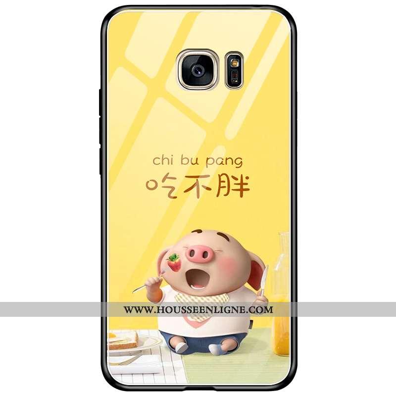 Étui Samsung Galaxy S7 Edge Protection Verre Téléphone Portable Tout Compris Simple Créatif Coque Ja