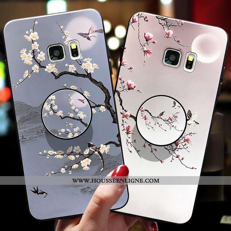 Étui Samsung Galaxy S7 Légère Fluide Doux Étoile Amoureux Ultra Incassable Gris