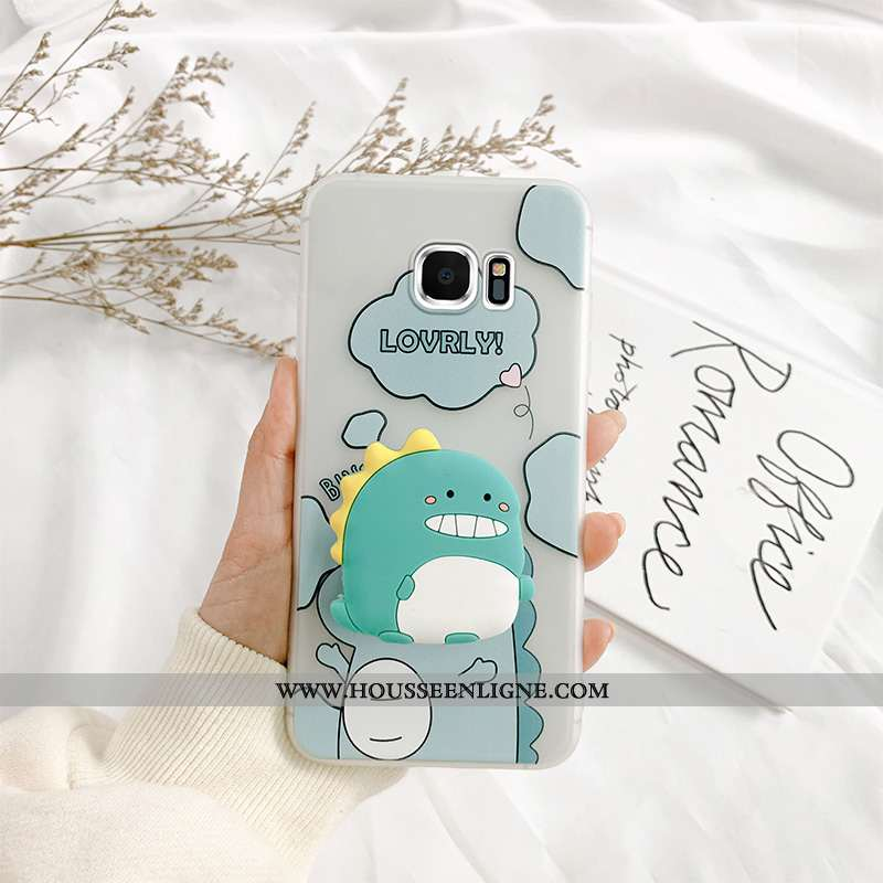 Étui Samsung Galaxy S7 Personnalité Créatif Net Rouge Tendance Bleu Support Tout Compris