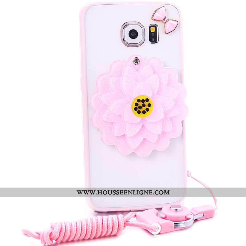 Étui Samsung Galaxy S7 Protection Fluide Doux Rose Coque Étoile Silicone