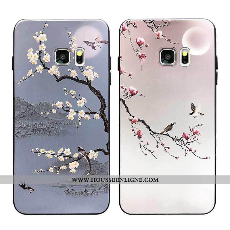 Étui Samsung Galaxy S7 Silicone Tendance Incassable Coque Fluide Doux Étoile Gris