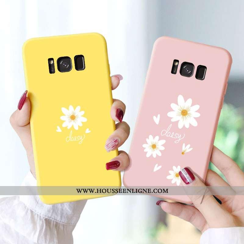 Étui Samsung Galaxy S8 Délavé En Daim Personnalité Créatif Légères Charmant Tendance Pu Jaune