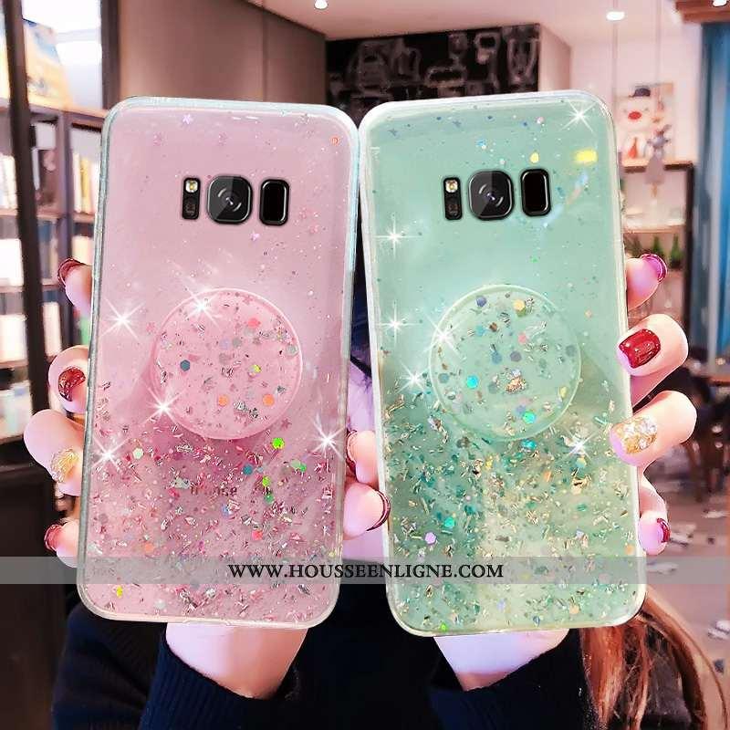 Étui Samsung Galaxy S8+ Fluide Doux Mode Luxe Protection Cristal Vert Verte