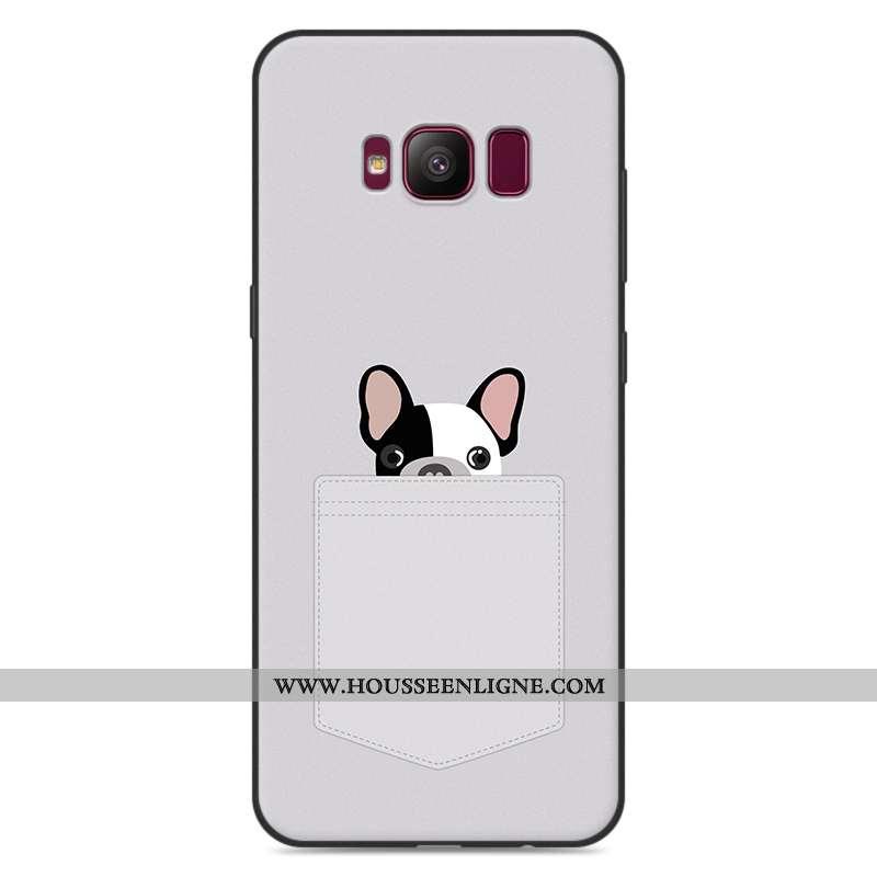 Étui Samsung Galaxy S8+ Fluide Doux Silicone Incassable Protection Gris Coque