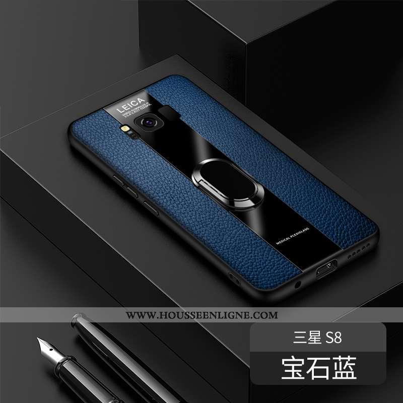 Étui Samsung Galaxy S8 Personnalité Créatif Légère Cuir Véritable Incassable Ultra Bleu