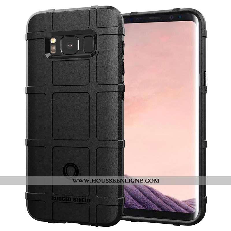 Étui Samsung Galaxy S8+ Personnalité Créatif Silicone Tout Compris Incassable Coque Noir