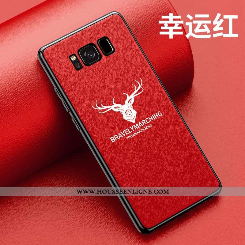 Étui Samsung Galaxy S8 Silicone Protection Coque Rouge Créatif Personnalité Délavé En Daim